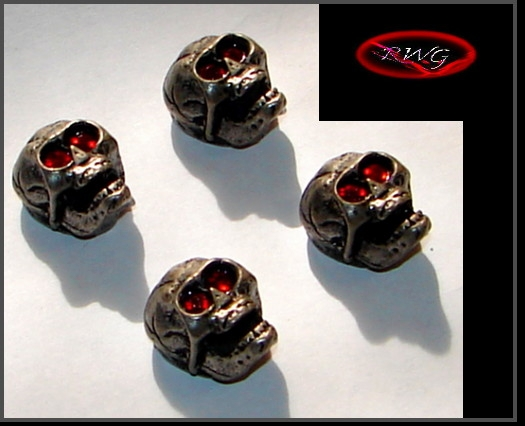 4 Skull Knobs -  Red Eye