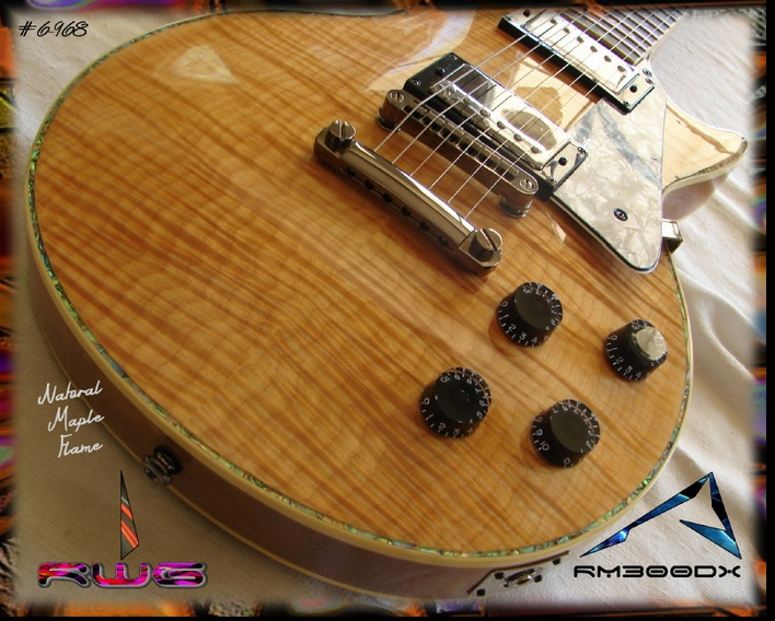 RG300DX Natural Flamed Maple #6-968