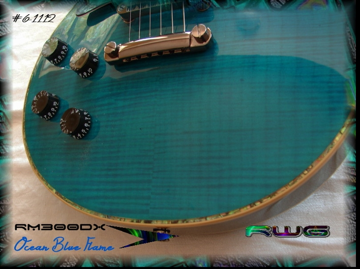Left Handed RM300DX OCEAN BLUE FLAME #6-1122