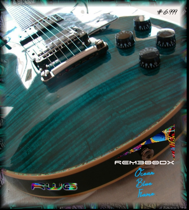 RM300DX OCEAN BLUE FLAME GLOSS   #6-999