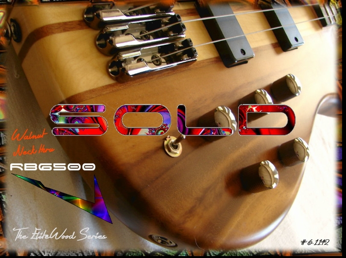 RB6500 WALNUT NECK THRU #6-1142