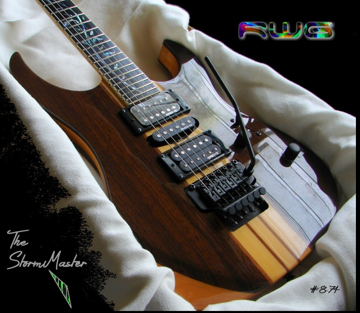 """The StormMaster"" RM5200 EBONY NECK THRU # 8-74"