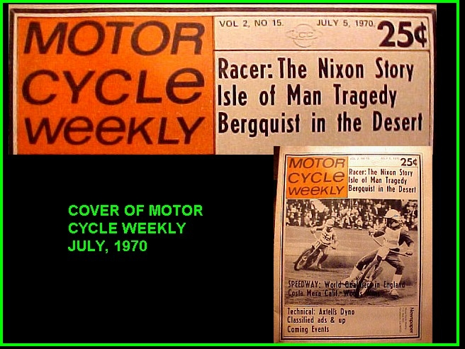COVER MOTOR CYCLE WEEKLY