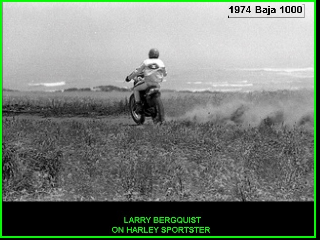 LARRY ON SPORTSTER - BAJA 1000