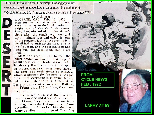 LARRY'S LAST WIN