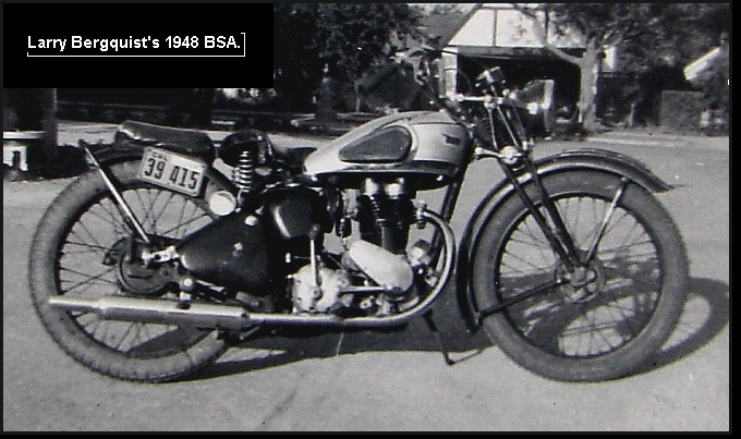 PERSONAL PHOTO LARRY'S 1948 BSA