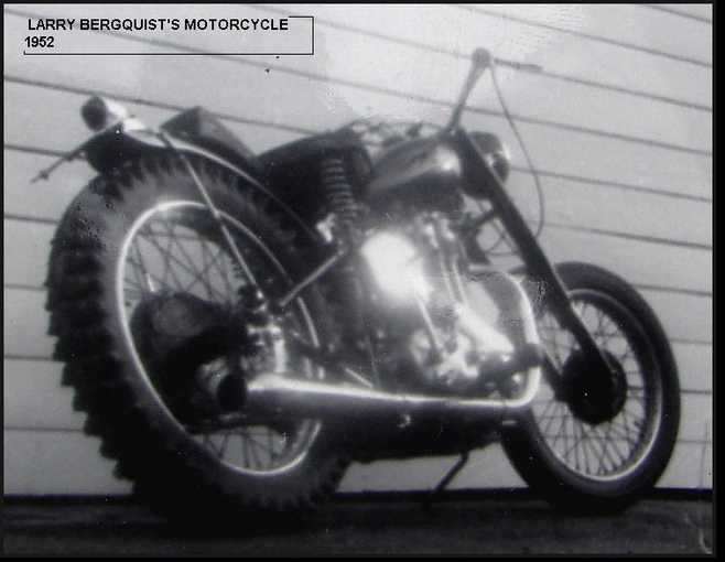 PERSONAL PHOTO - LARRY'S MOTORCYCLE 1952