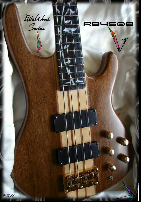RB4500 WALNUT NECK THRU BASS GUITAR  #8-77