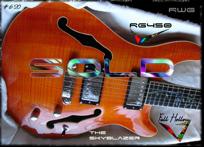 RG450 AMBER FLAME FULL HOLLOW THE SKYBLAZER #6-20