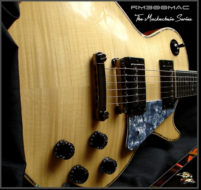RM300MAC NATURAL FLAME BILL MACKECHNIE SIG ELECTRIC GUITAR  #8-05