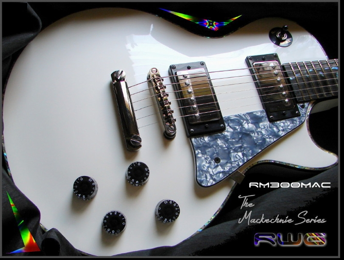 RM300MAC PEARL WHITE  BILL MACKECHNIE SIGNATURE ELECTRIC GUITAR #7-55