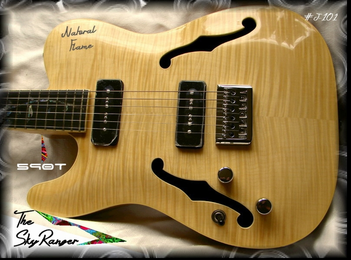 "Left Handed ""The SkyRanger""  590T Natural Flame #J-101"