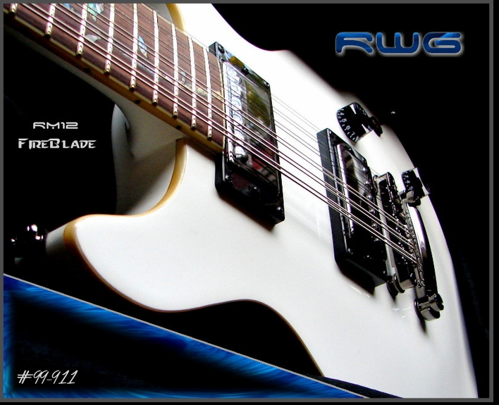 """The FireBlade"" RM12 PROJECT GUITAR PEARL WHITE GLOSS   #99-911"