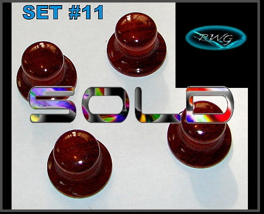 4 Cherry Wood Bell Electric guitar knobs Set #11