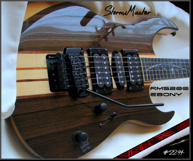 """The StormMaster"" RM5200 EBONY NECK THRU MINOR BLEMISH  # 22-94"