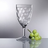 Acrylic Diamond Cut Wine Goblet 14oz  6pc