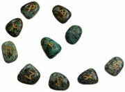 Rune Set  African Turquoise