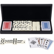 Alex Navarre™ 28pc Domino Set with 2 Decks of Cards in Wood Gift Box