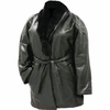 Ariell� Italian Stone� Design Genuine Lambskin Leather Ladies� Coat with Genuine Rabbit Fur Collar