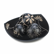 Artisan Tri-Point Bowl with Decorative Balls