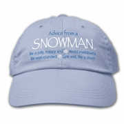 Ball Cap, Advice from a Snowman