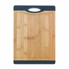 Bamboo Cutting Board with Black Grip  13 x 9.8