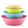 Bamboo Oval Mixing Bowls  Set of 4