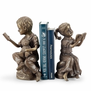 Bedtime Story Boy and Girl Bookends