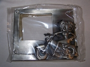 Biker Betty Boop Pewter Picture Frame