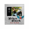 Biker Chick Live to Ride Winged Heart  Motorcycle Theme Picture Frame  6 x 4