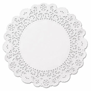 """Brooklace Lace Doilies, Round, 4"""", White, 2000/Carton"""
