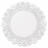 """Brooklace Lace Doilies, Round, 5"""", White, 2000/Carton"""