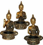 Buddha Tealight Holder (set of 3)