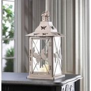 "Butterfly Candle Lantern  13.9""h"