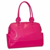 Buxton Femme Floral Ladies Computer Tote, Faux Leather, 17 x 3-1/2 x 12, Pink