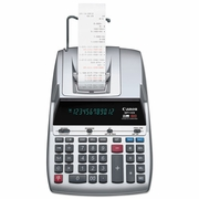Canon MP11DX Two-Color Printing Desktop Calculator, 12-Digit Fluorescent, Black/Red