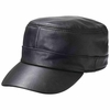Casual Outfitters™ Solid Genuine Lambskin Leather Cap