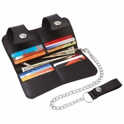 Casual Outfitters™ Solid Genuine Leather Double Snap Biker, Trucker Wallet
