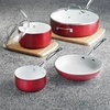 Ceramic Coated Aluminum Cookware Set   6pc.