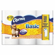 Charmin Basic One-Ply Toilet Paper, White, 264 Sheets/Roll  48rolls/carton