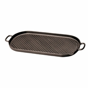 Chasseur Large Oval Cast Iron Grill  18-3/8""