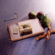 Prodyne Cheese Board Slicer  Beechwood with Brushed Stainless Steel Inlay