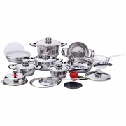 Chef's Secret® 22pc 7-Ply, High-Quality, Heavy-Duty Stainless Steel Cookware Set