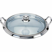 Chef's Secret Stainless Steel Griddle with See-thru Glass Lid