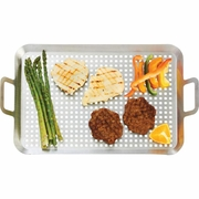 Chefmaster™ Stainless Steel BBQ Grill Tray 19-3/4 long