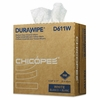 Chicopee Durawipe Medium-Duty Industrial Wipers, 8.8 x 17, White, 110/Box, 12 Box/Carton
