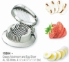 Classic Mushroom and Egg Slicer Aluminum with Stainless Steel Wires