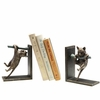 Climbing Cat on Branch Bookends