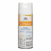Clorox® Citrace Hospital Disinfectant & Deodorizer, Citrus, 14oz Aerosol,