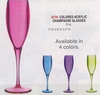 Colored Acrylic Champagne Glasses